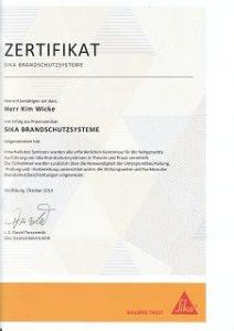 k-Brandschutz Zertifikat