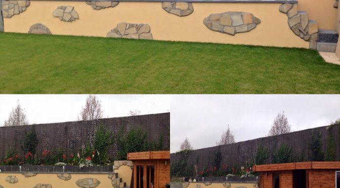 Gartenwand von Privatkunden